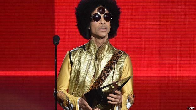 Prince en una ceremonia