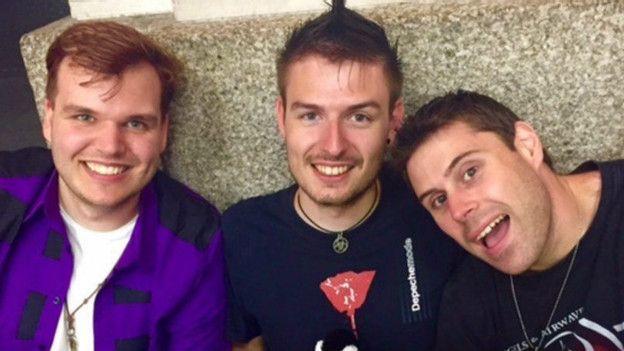 Robin, Thom y Steve.