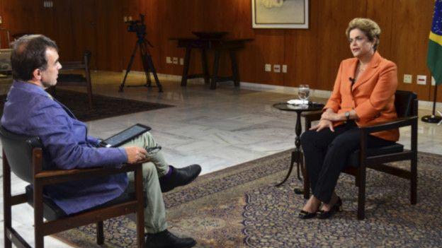 Dilma Rousseff dio una entrevista exclusiva a la BBC y dijo que es una