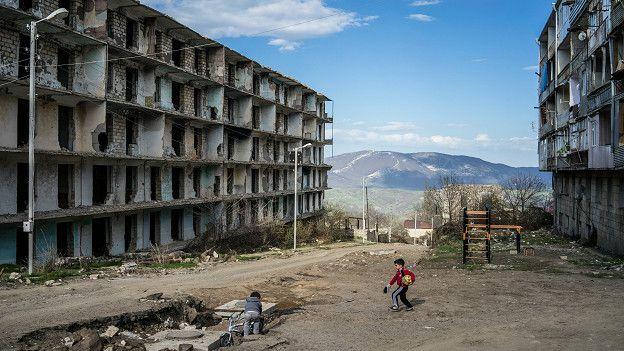 Руины в Нагорном Карабахе