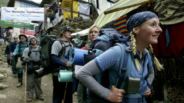 Ascenso al campamento base del Everest