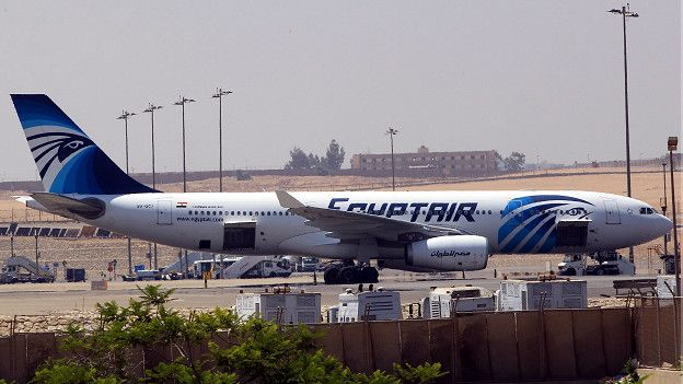 Un avión Airbus de EgyptAir