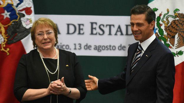 Michele Bachelet y Enrique Peña Nieto