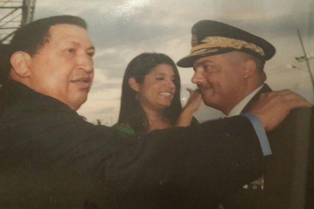 Hugo Chávez y Cliver Alcalá