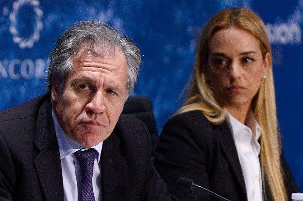 Luis Almagro y Lilian Tintori