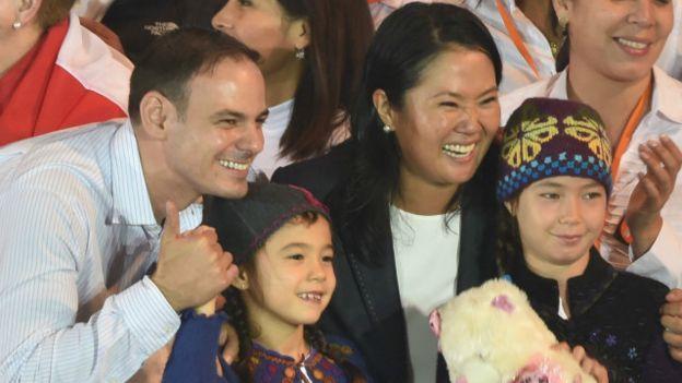Keiko junto a su familia