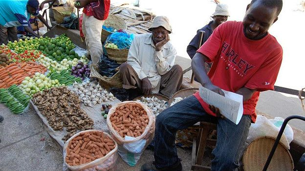 На многих африканских рынках можно купить землю, предназначенную для употребления в пищу