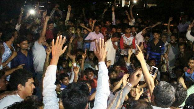 गुजरात में आंदोलन करते दलित.