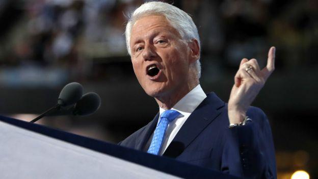 比尔·克林顿在费城民主党党代会上(26/7/2016)