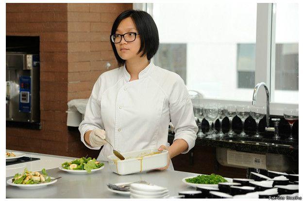 「我希望能開一家餐廳,」蔣璞說