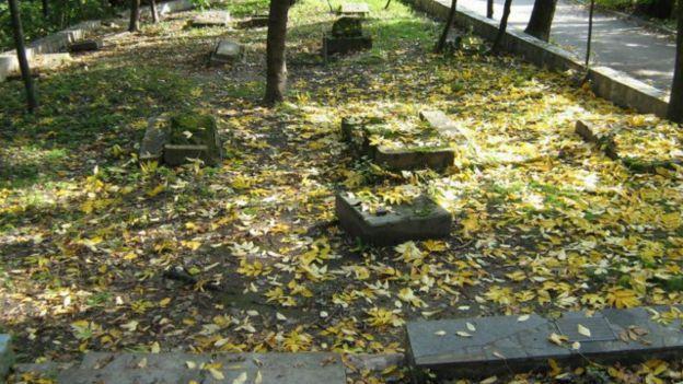Могильные плиты с бывшего еврейского кладбища в Бабьем Яру
