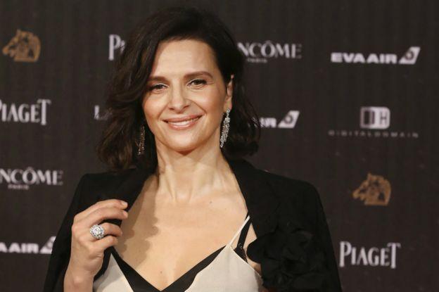 法國女星茱麗葉畢諾許為金馬獎增添「星光」。