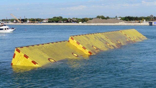 Barreras contra inundaciones en Venecia