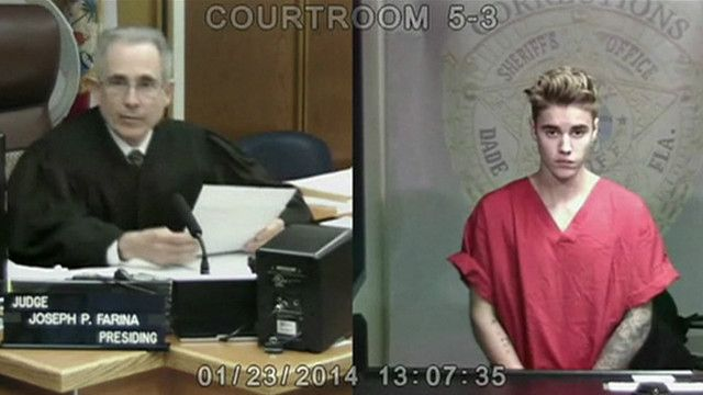 Justin Bieber comparece ante juez