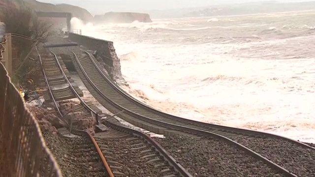 Ferrovia em Devon. Foto: BBC/ reprodução de vídeo