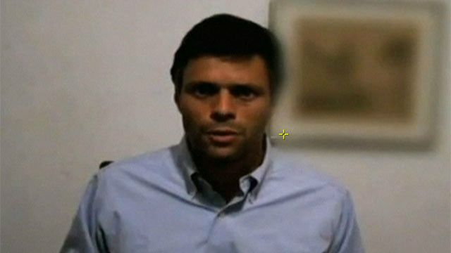 Leopoldo López en mensaje de video