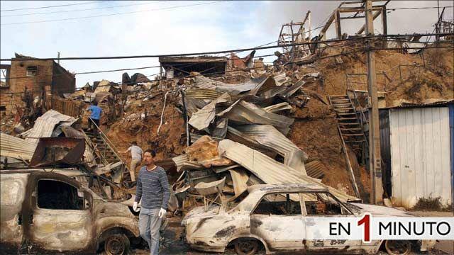 Edificios en ruinas en Valparaíso
