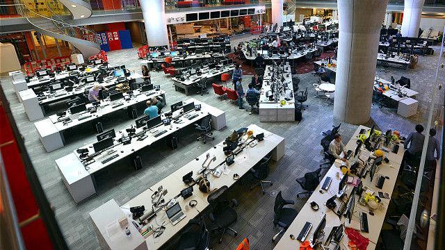 An open-plan office