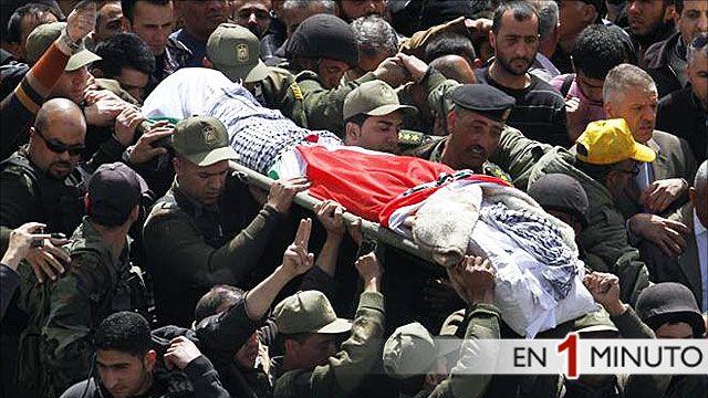 Funeral del joven palestino asesinado