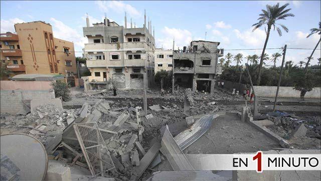 Escombros de edificios en la Franja de Gaza