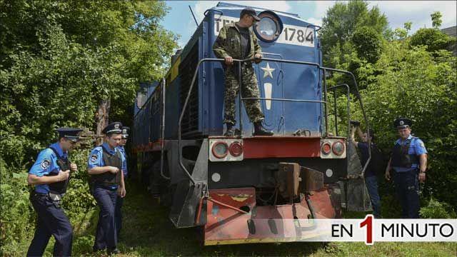Tren con cuerpos recuperados del avión MH17