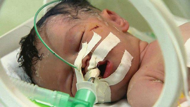 Bebé nacido en Gaza
