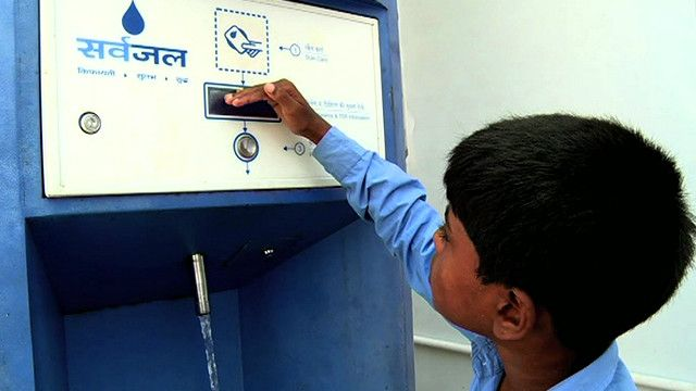 Máquina expendedora de agua