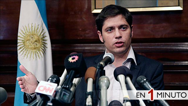 Rueda de prensa del ministro de economia argentino Axel Kicillof