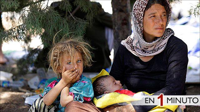Familia desplazada Yazedí en Irak