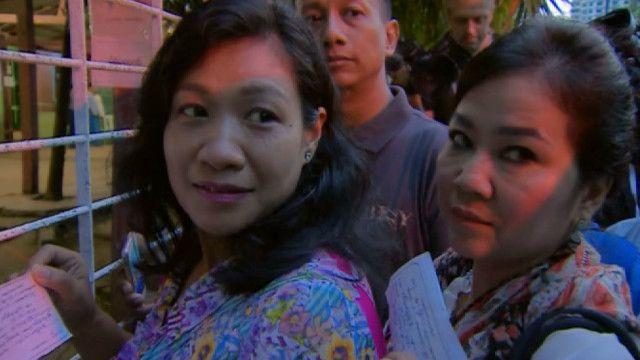 Участники выборов в Бирме