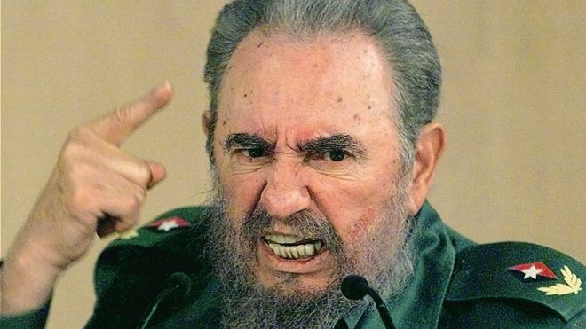 Fidel Castro desafiante. Foto: AFP Getty Images