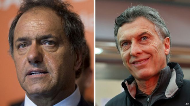 Daniel Scioli y Mauricio Macri