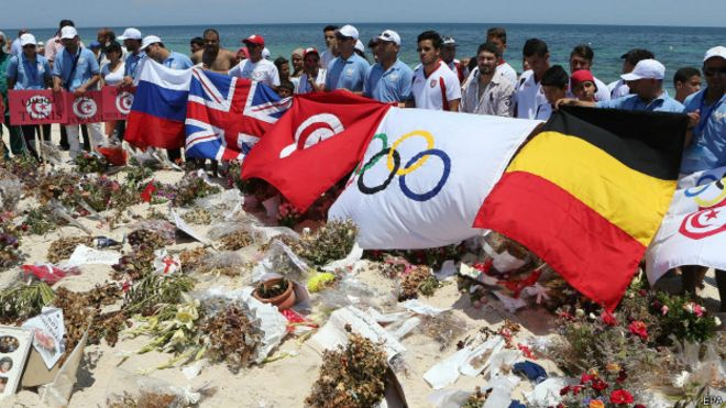 الشاطئ الذي وقع عليه الهجوم