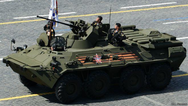 Боевая машина БТР-82а на параде в честь 70-летия Победы