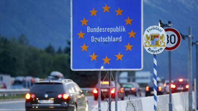 Знак на германской границе