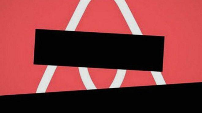 Logo de Airbnb cubierto