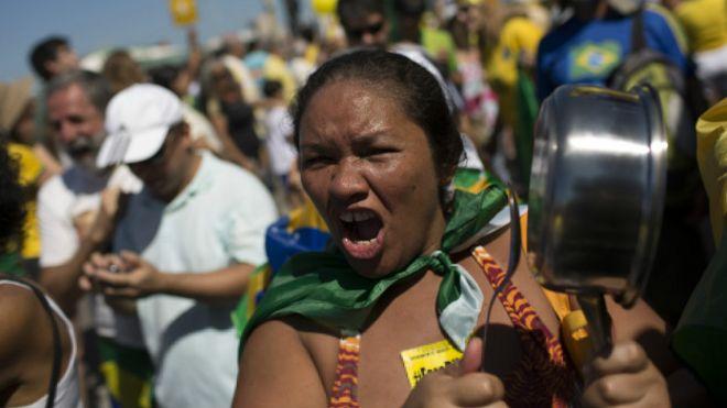 Cacerolazo en Brasil