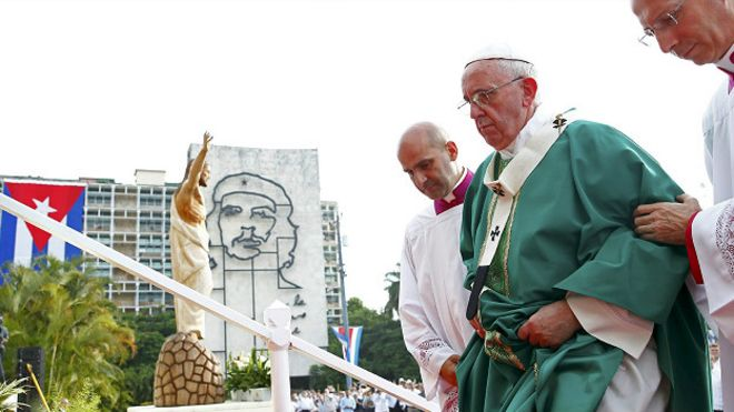 Misa del Papa en la plaza de la Revolución