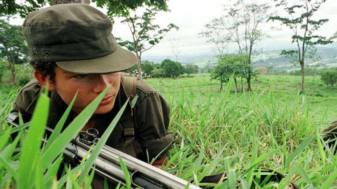 Guerrillero de las FARC.