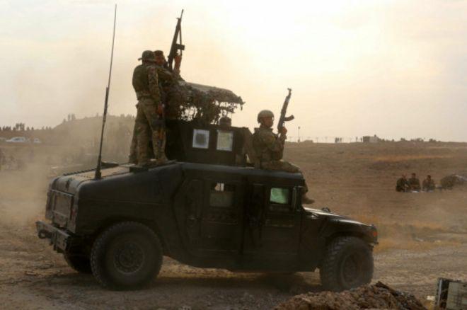 Курдские подразделения на севере Ирака
