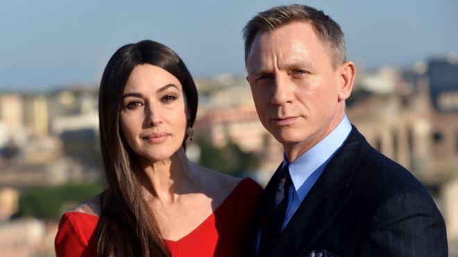 新一部007电影《魔高一丈》演员莫妮卡·贝鲁奇和丹尼尔·克雷格