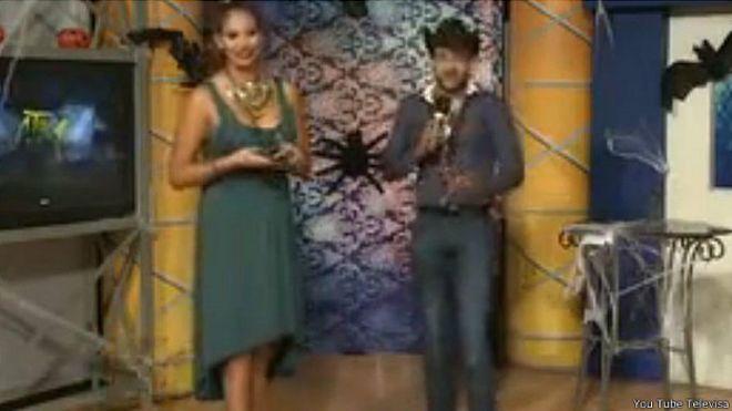 Tania Reza y Enrique Tovar en el programa A Toda Máquina