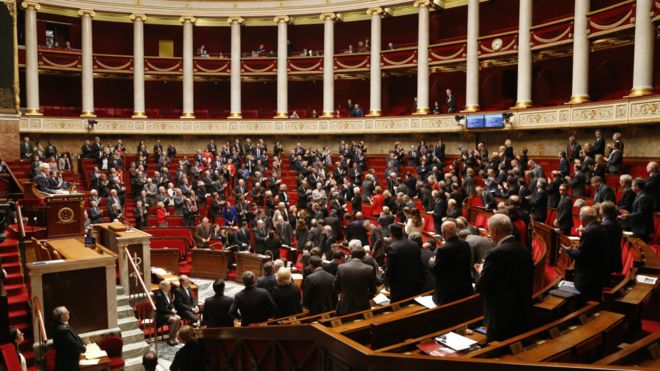 பிரான்ஸ் நாடாளுமன்றம் அவையின் தோற்றம்