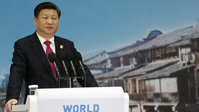 中國國家主席習近平在互聯網大會上發言