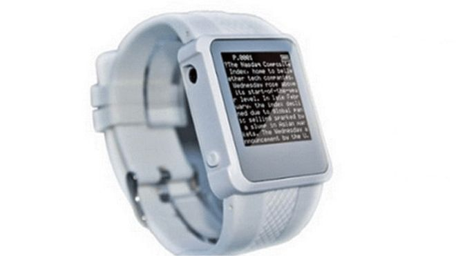 Reloj digital con contenido oculto