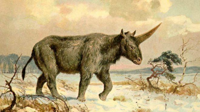 Unicornio siberiano pintado por Heinrich Harder