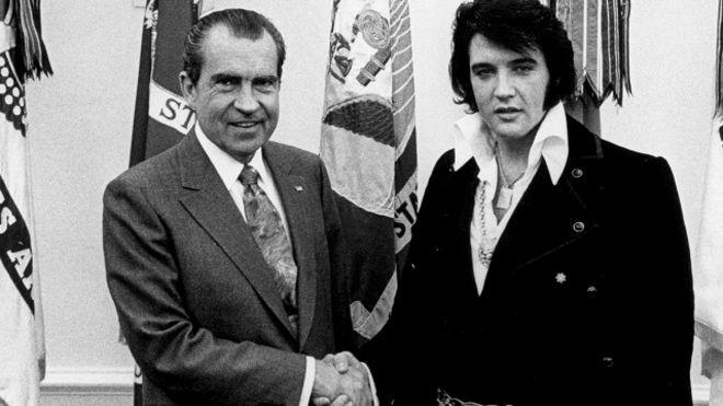 Ричард Никсон и Элвис Пресли