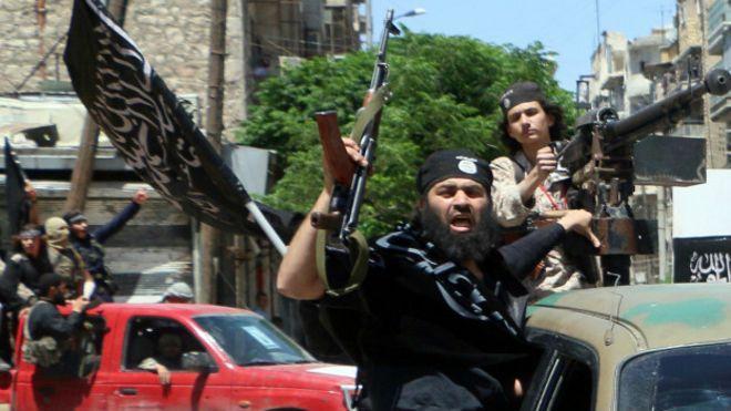 Combatientes del frente Al Nusra en Siria