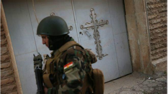 A milícia luta lado a lado com outras, de origem muçulmana
