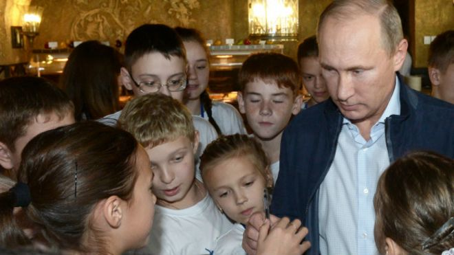 Putin with children